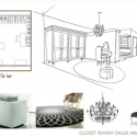 Progetto Design per Cabina armadio di Yasmine Benetti -zona lei