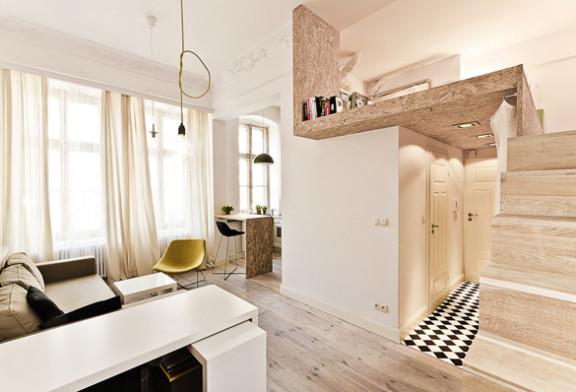 ... di ottimizzare lo spazio e creare una camera da letto indipendente