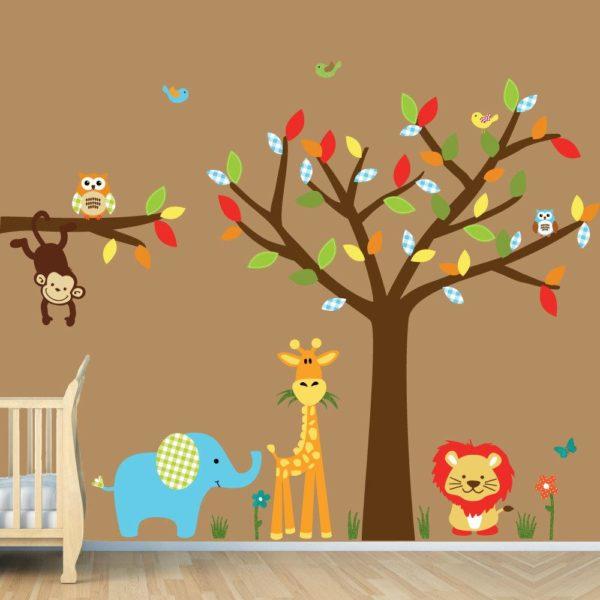 decorazioni pareti camerette dei bambini