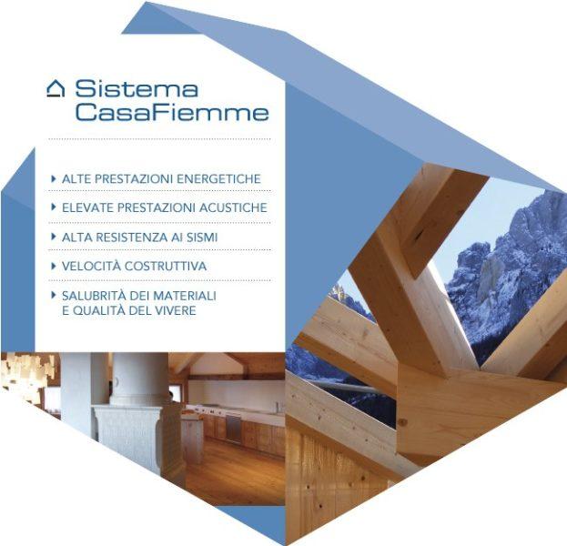 Sistema CasaFiemme Rasom, modello di costruzione di case in legno