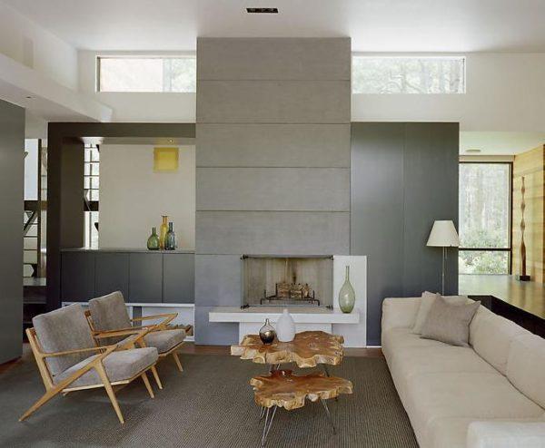 ristrutturare casa: consigli e risparmio un caminetto inserito in salotto