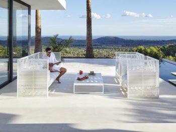 Arredo terrazzo e giardino idee e mobili di design il DIVANO DNA prodotto da Gandìa Blasco