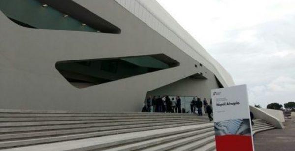 inaugurazione della nuova stazione di Fragola (Napoli) firmata Zaha Hadid