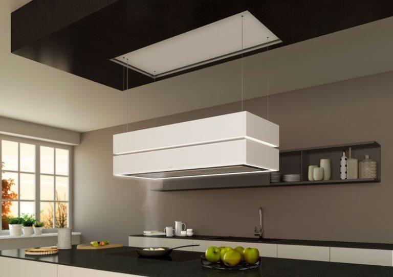 cappa a soffitto o sospensione la bellezza del design la. Black Bedroom Furniture Sets. Home Design Ideas