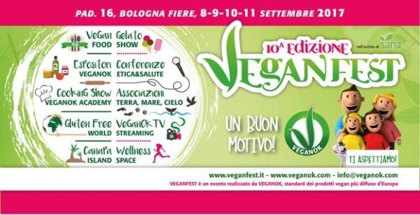 manifesto della Vegan Fest a Bologna settembre 2017