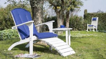 Poltrona con poggiapiedi Pircher, specializzata in mobili da giardino in legno