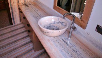 top per il lavabo da bagno Top in marmo Le Rogge