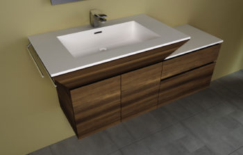 top per il lavabo da bagno Top in corian di lune design