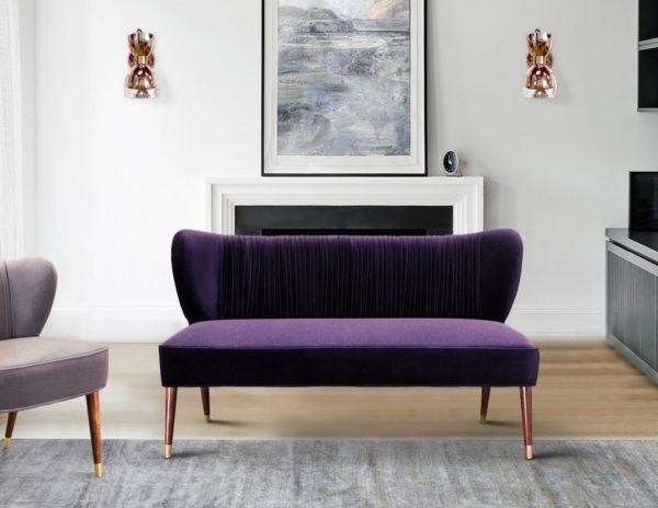 Rivestimenti in tessuto per divani : foto Divano in velluto Visconti