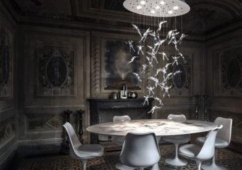 come illuminare il tavolo da pranzo Lampadario Terzani