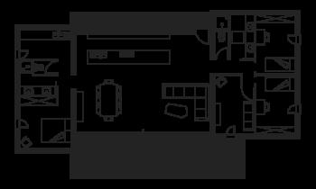 PopUp House casa passiva bioclimatica modulare Pianta di una PopUp House