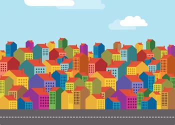 Modifica intestazione della casa tra compromesso e rogito: immagine grafica case colorate