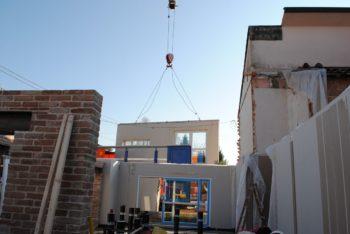 demolizione e ricostruziane: ampliamento orizzontale in fase di ricostruzione dopo demolizione