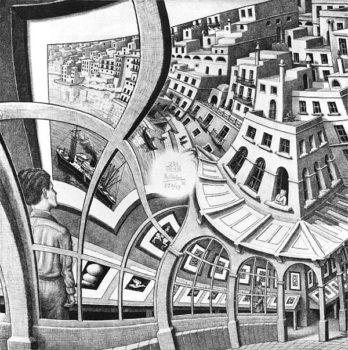 Escher in mostra a Napoli - opera Galleria di stampe