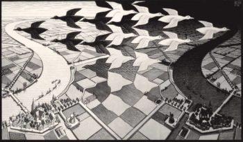 Escher in mostra a Napoli - opera: Giorno e notte