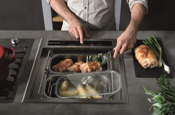 Realizzare cucina da chef in casa: FOTO Vaschetta a induzione Kitchen Aid